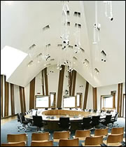 Committee room at Holyrood
